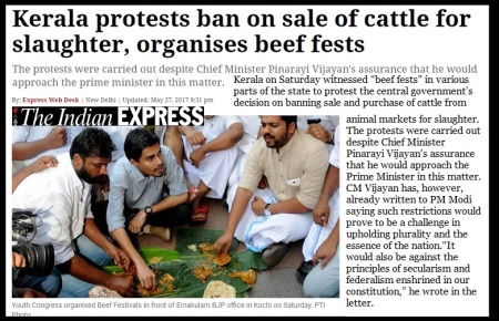 28-05-2017 beef-fest Kannur- Indian Express- photo