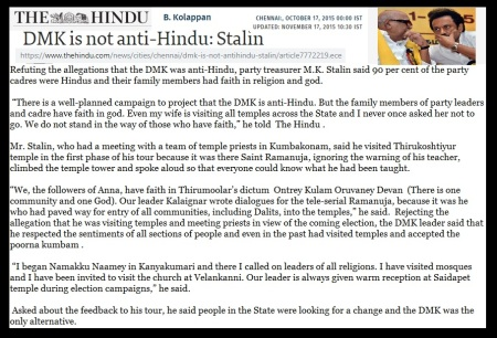 Stalin response to The Hindu 17-10-2015