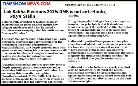 Stalin anti-hindu, Times Now