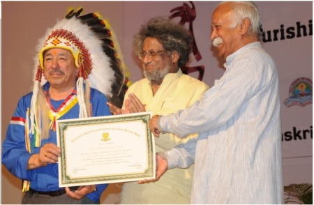 Aztec, honoured by RSS head