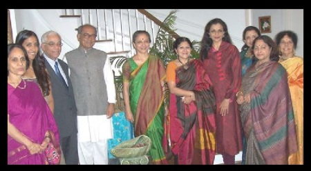 Leela Samson with Congress Digvijay singh